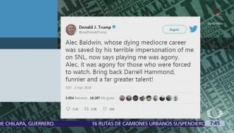 Trump arremete en contra de Alec Baldwin a través de Twitter
