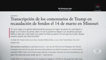 Donald Trump llama 'malcriado' a México