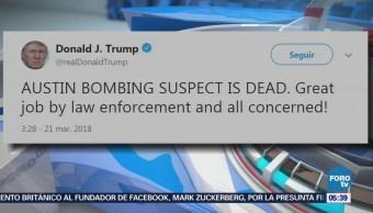 Trump reacciona ante la muerte del presunto autor de explosiones en Texas