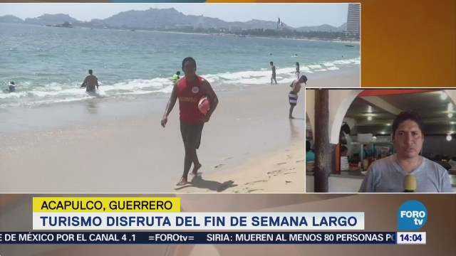 Turismo Disfruta Playas Acapulco Fin Semana Largo