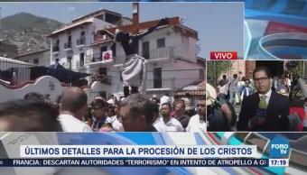 Últimos detalles para la procesión de Los Cristos en Taxco