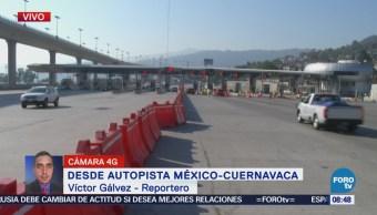 Vacacionistas optan por utilizar la autopista México-Cuernavaca