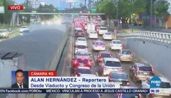 Viaducto y Congreso de la Unión presentan tránsito pesado en CDMX