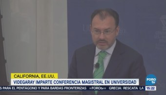 Videgaray habla de los desafíos de la relación México-EU