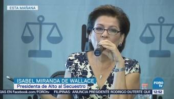 Wallace presenta informe mensual sobre el índice de secuestros