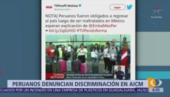 18 peruanos denuncian discriminación de agentes migratorios en el AICM