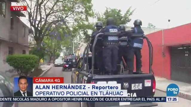Más 600 Policías Participan Operativo Tláhuac