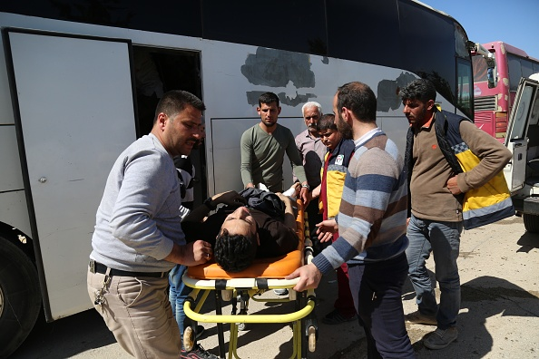 Segundo grupo de rebeldes de Ejército de Islam evacua Ghouta Oriental, Siria