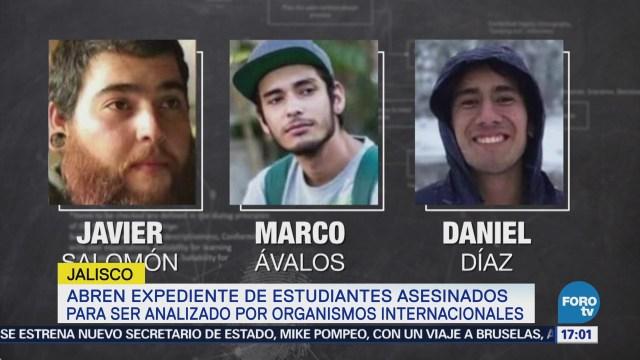 Abren expediente de estudiantes asesinados en Jalisco