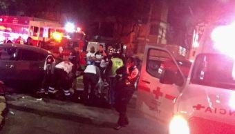 Choque en la colonia Roma Sur, CDMX, deja un muerto y dos lesionados