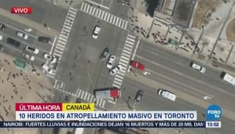 Menos 10 Heridos Atropellamiento Masivo Toronto