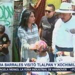 Alejandra Barrales Visitó Tlalpan Xochimilco
