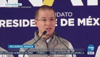 Anaya presenta propuestas sobre educación y seguridad