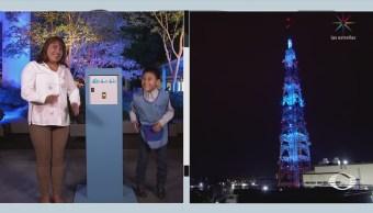 Antena de Televisa se ilumina de azul por el autismo