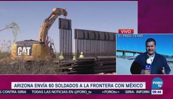 Arizona envía 60 soldados a la frontera con México