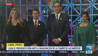 Arriba Enrique Peña Nieto Inauguracion Cumbre De Las Américas