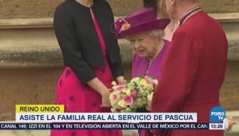 Asiste Familia Real Servicio Pascua Reino Unido