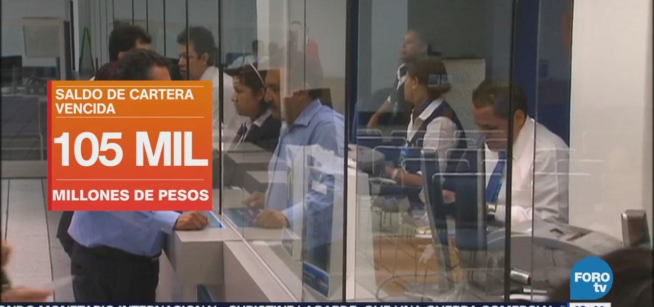 Aumenta saldo de la cartera vencida de la Banca en México