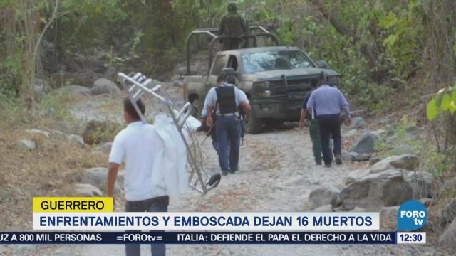 Aún no hay detenidos por emboscada contra policías en Guerrero