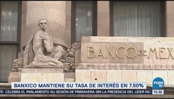 Banxico mantiene su tasa de interés interbancaria en 7.50