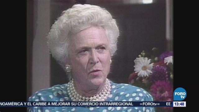 Barbara Bush, la exprimera dama más admirada de EU