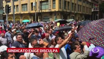 Burócratas Cdmx Protestan Asamblea Legislativa Sindicato