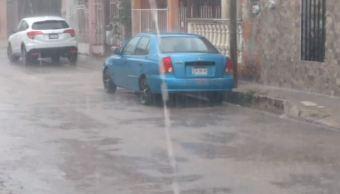 Fuertes lluvias por frente frío 45 dejan encharcamientos en Campeche