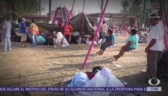 Caravana de migrantes ya no llegará a EU, se quedará en CDMX