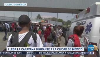 Caravana migrante llega a la Ciudad de México