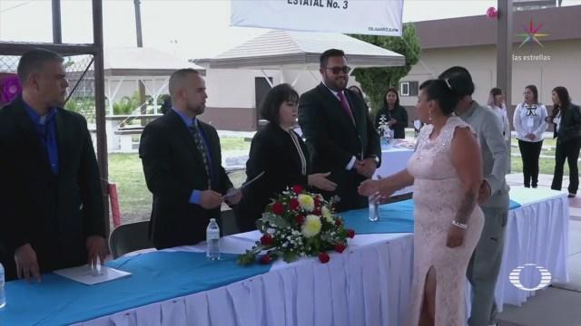 Celebran Boda Colectiva Penal Ciudad Juárez Chiahuahua