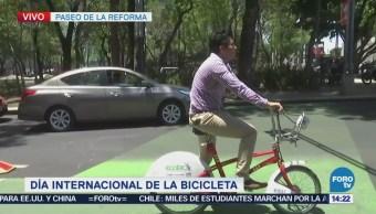Celebran el Día de la bicicleta en la CDMX