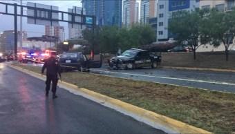 Patrulla choca contra autos provoca un muerto en San Pedro Garza