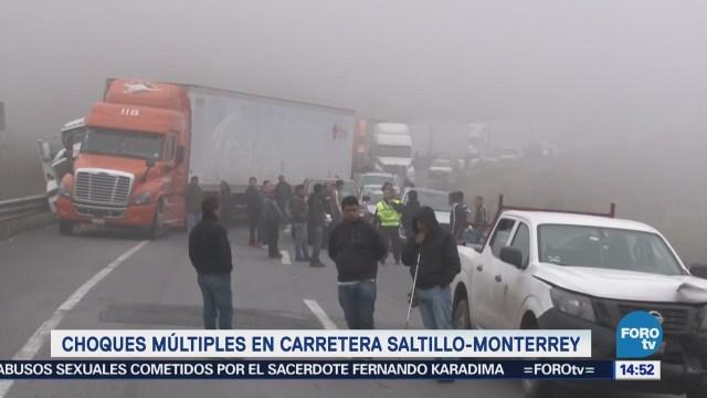 Choques Múltiples Carretera Saltillo Monterrey Accidentes