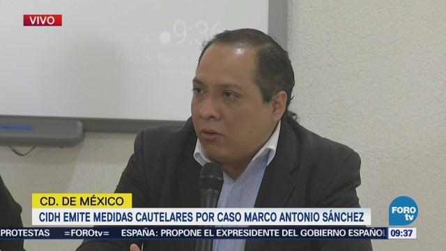 CIDH emite medidas cautelares por caso de Marco Antonio Sánchez