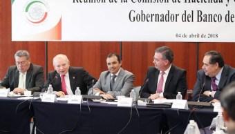Gobernador de Banco de México comparece ante senadores