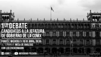 Fecha y hora del primer debate de los candidatos para jefe de gobierno de la CDMX