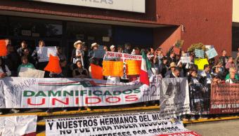 Damnificados del sismo 19S protestan al cumplirse 7 meses del terremoto