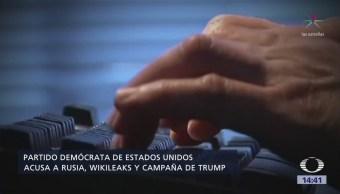 Demócratas Demandan Trump, Rusia Wikileaks