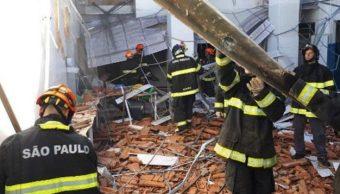 Derrumbe escuela Brasil deja 19 heridos niños