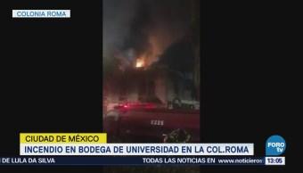 Desalojan universidad de la colonia Roma por incendio