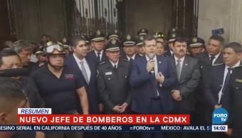 Designan a Jorge Cortés Hernández director general de Bomberos de la CDMX