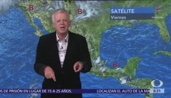 Despierta con Tiempo: Lluvias en 20 estados por frente frío y baja presión
