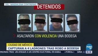 Detienen Cuatro Ladrones Tras Robar Bodega Cdmx