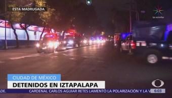 Detienen a hombres tras enfrentamiento con policías en Iztapalapa