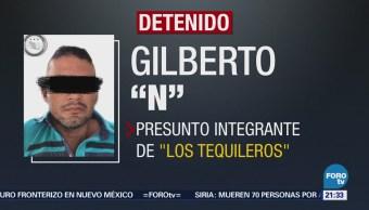 """Detienen a presunto integrante de """"Los Tequileros"""""""