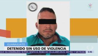 Detienen en Guanajuato a presunto operador de 'Los Tequileros'