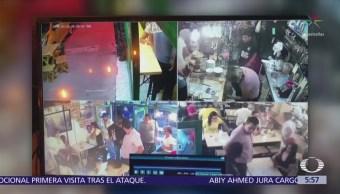 Difunden asalto a cafetería en Agrícola Pantitlán, Iztacalco