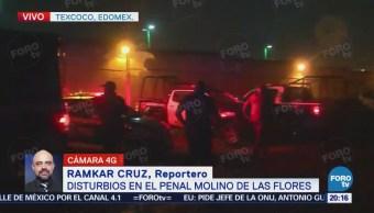 Disturbios en el penal Molino de las Flores