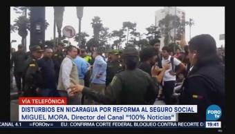Disturbios Nicaragua Reforma Seguro Social Censura Televisoras