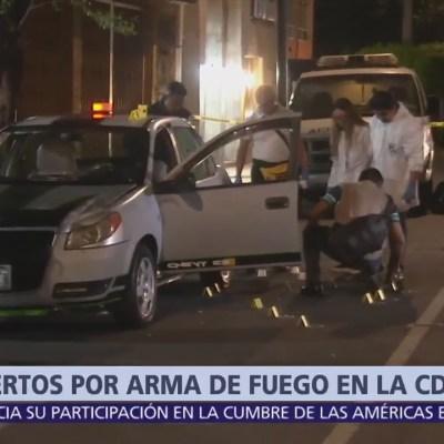 Dos muertos por arma de fuego en la CDMX